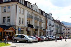 General view of a street in Zakopane stock photos