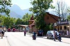 Street view in Zakopane stock photo