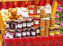 Zakopane, Poland - August 24, 2015: Taditional polish food. Zakopane, Poland - August 24, 2015: Popular taditional polish food – cranberry (bog-berry), honey Royalty Free Stock Image