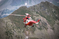 Zakopane,Poland-July 4,2015:Helicopter mountain rescue service i Royalty Free Stock Image