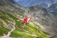 Zakopane,Poland-July 4,2015:Helicopter mountain rescue service i Stock Photography