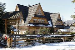 Wooden log building in Zakopane Stock Images