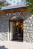 ZAKOPANE, POLAND - OCTOBER 5, 2018. Orsay store front at Krupowki Street in Zakopane. stock photography