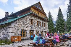 ZAKOPANE, POLAND - SEPTEMBER 10, 2017: Shelter Murowaniec in Tat Stock Photo