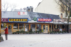 Zakopane restaurang namngav Kolorowa Royaltyfria Bilder
