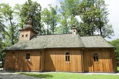 Zakopane-Stadthölzerne Kirche Lizenzfreies Stockfoto