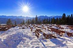 Zakopane at Tatra mountains in winter Stock Images