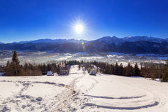Zakopane at Tatra mountains in winter Royalty Free Stock Photos