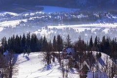 Zakopane at Tatra mountains in winter Royalty Free Stock Images