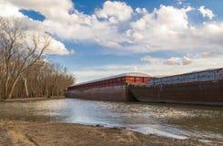 Zakotwiczająca barka Fotografia Stock