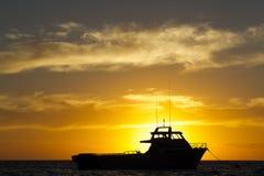 Zakotwiczająca łódź Zdjęcie Stock