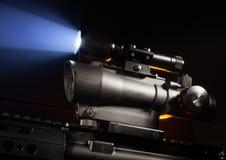 Zakres i laser Obrazy Stock