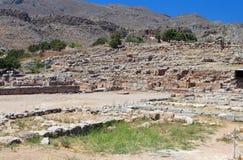 Zakros antiguo en la isla de Crete en Grecia fotos de archivo