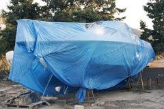 Zakrywająca łódź w stoczni Fotografia Royalty Free
