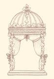 Zakrywający Ślubny Gazebo Obrazy Royalty Free
