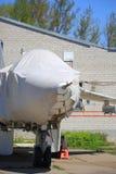 Zakrywający bojowego samolotu zbliżenie Zdjęcia Royalty Free