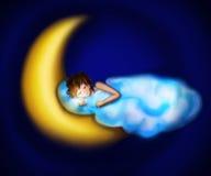 zakrywający chmurą ilustracja wektor