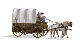 Zakrywający furgon ilustracji