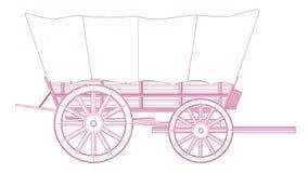 Zakrywający furgonu koło ilustracji