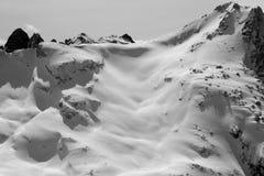 zakrywający halnego szczytu śnieg Obrazy Stock