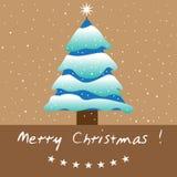 zakrywający jodły śniegu drzewo ilustracja wektor