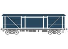 Zakrywający Kolejowy frachtowy samochód - Wektorowa ilustracja ilustracja wektor