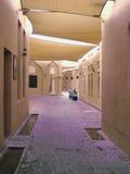 Zakrywający Laneway w Kulturalnym mieście, Doha royalty ilustracja