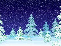 zakrywający lasu śniegu opad śniegu ilustracja wektor