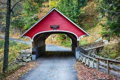 Zakrywający most w jesieni fotografia stock