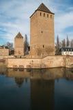 Zakrywający mosty w historycznym centrum Strasburg obrazy stock