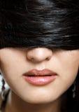 zakrywający włosy Zdjęcia Stock