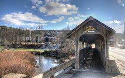 Zakrywający Footbridge w Stowe, Vermont Obrazy Royalty Free