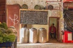 Zakrywający rynek w Meknes, Maroko Zdjęcie Royalty Free