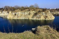 Zakrzowek湖,克拉科夫,波兰。在水下的猎物。 库存照片