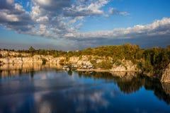 Zakrzowek-Reservoir in Krakau stockfotos