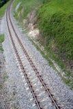 zakrzywione torów kolejowych Zdjęcia Royalty Free