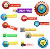zakupów znaki Zdjęcie Stock