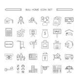Zakup ikony domowy set Obrazy Royalty Free