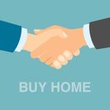 Zakupu domowy uścisk dłoni Obrazy Stock