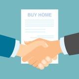 Zakupu domowy uścisk dłoni Fotografia Stock