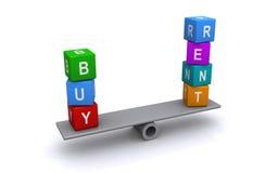 Zakupu lub czynszu własności równowaga ilustracji