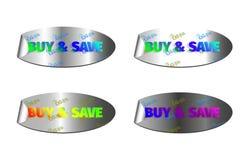 Zakupu & save koloru łuna Fotografia Royalty Free