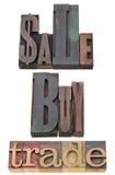 zakupu sprzedaży handel Fotografia Stock
