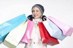 zakupy atrakcyjna kobieta fotografia royalty free