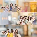 zakupy azjatykcia kobieta Fotografia Royalty Free