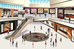 Zakupy centrum handlowe royalty ilustracja