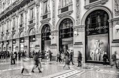 Zakupy centrum handlowe w Mediolan, Włochy Zdjęcia Royalty Free