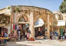 Zakupy centrum handlowe w starej części Jerozolima, Izrael fotografia royalty free