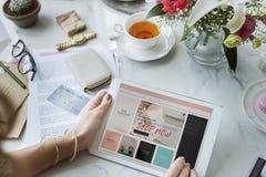 Zakupy Cyfrowego networking Internetowy Podłączeniowy pojęcie Zdjęcia Stock