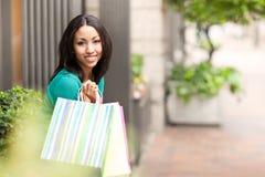 zakupy czarny kobieta Fotografia Stock